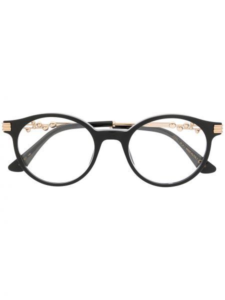 Черные очки для зрения круглые металлические Jimmy Choo Eyewear