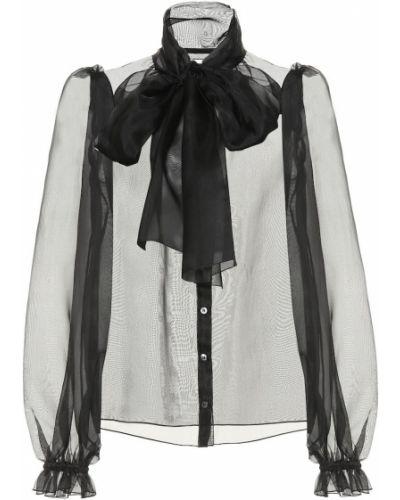 Блузка шелковая из органзы Dolce & Gabbana