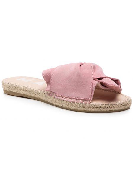 Różowe sandały zamszowe Manebi