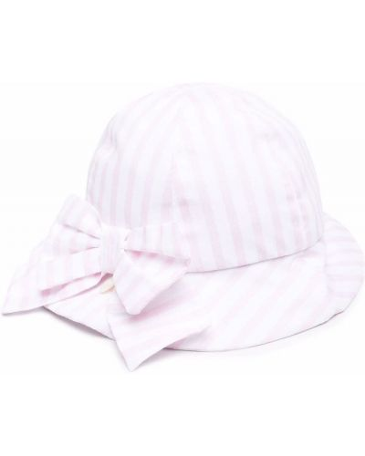 Biały kapelusz bawełniany w paski Le Bebé Enfant