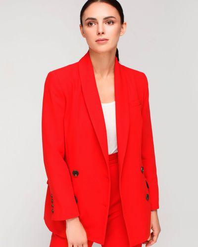 Текстильный красный пиджак для офиса Must Have