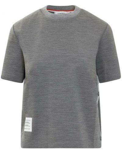 Szara koszulka krótki rękaw Thom Browne