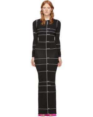 Платье макси с отложным воротником черное Vetements