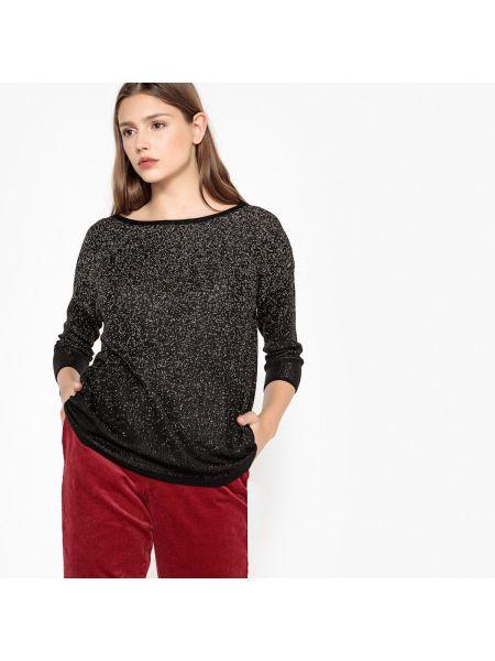 Тонкий с рукавами черный акриловый пуловер Best Mountain