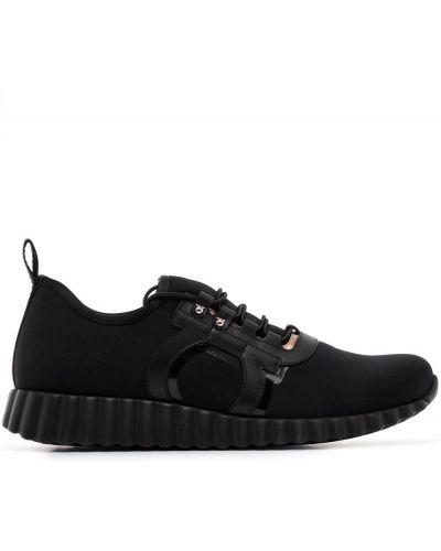 Кроссовки на шнуровке - черные Salvatore Ferragamo