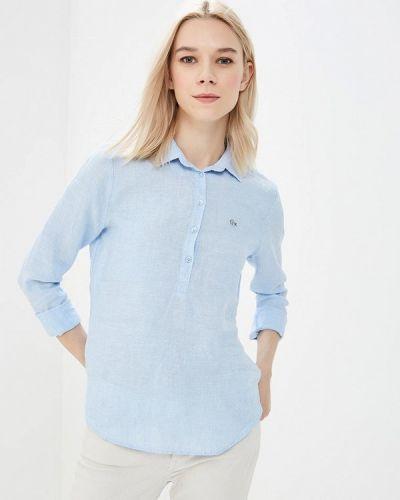 Голубая рубашка Lacoste