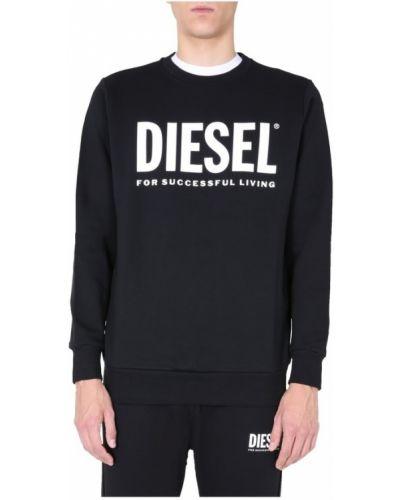 Bluza z długimi rękawami bawełniana oversize Diesel