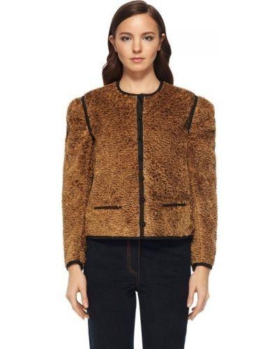 Куртка на пуговицах - коричневая Isa Arfen