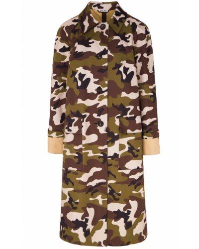 Пальто с принтом камуфляжное Miu Miu
