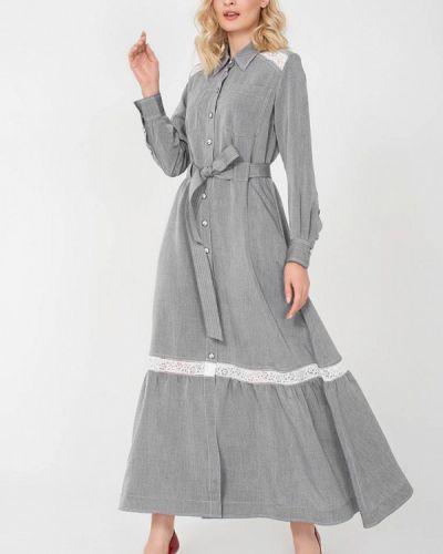 Платье - серое Jn