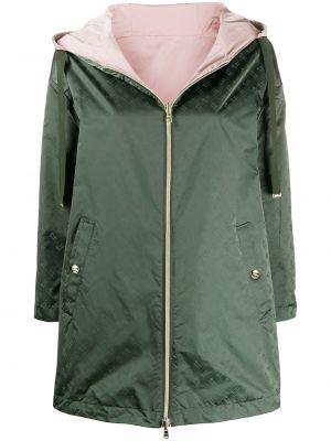 С рукавами пальто с капюшоном на молнии двустороннее айвори Herno