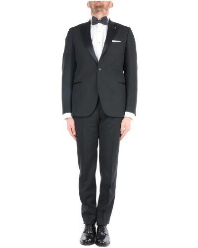 Czarny garnitur Trussardi