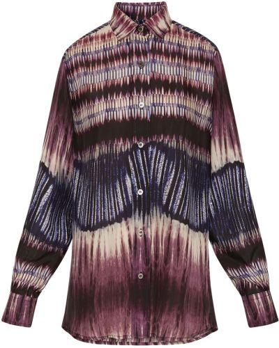 Фиолетовая шелковая рубашка Gerard Darel