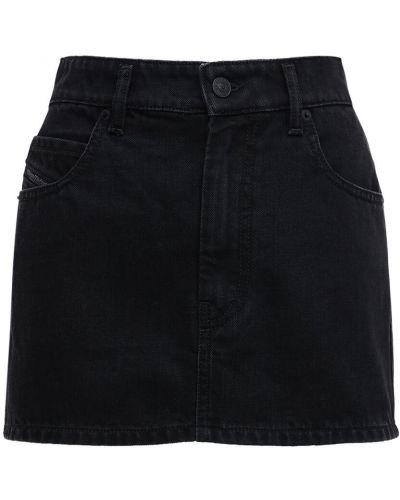 Черная юбка мини с карманами Diesel
