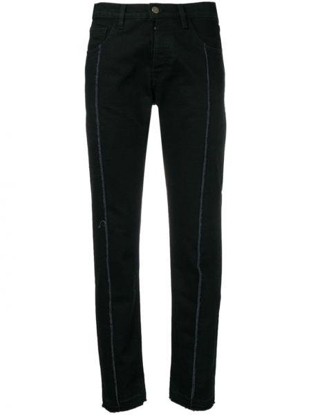 Черные джинсы-скинни с низкой посадкой на пуговицах с поясом Andrea Ya'aqov