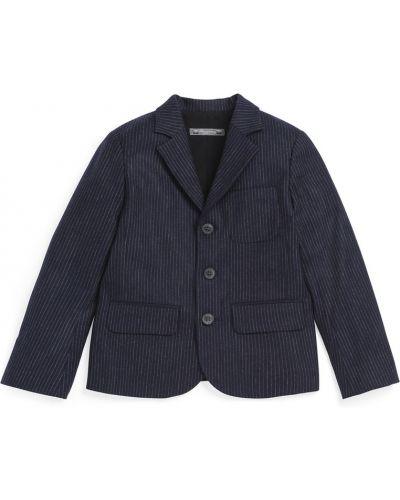 Пиджак шерстяной синий Bonpoint