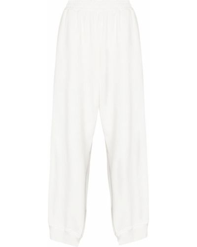 Spodnie z wysokim stanem - białe Mm6 Maison Margiela