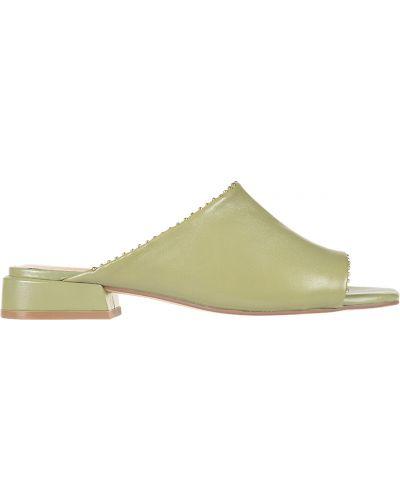 Кожаные мюли - зеленые Bruno Premi