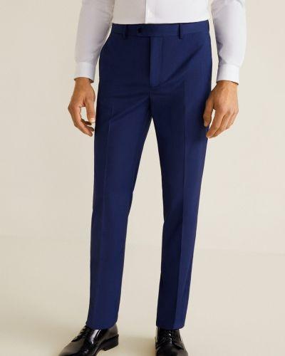 Прямые брюки с карманами из полиэстера Mango Man