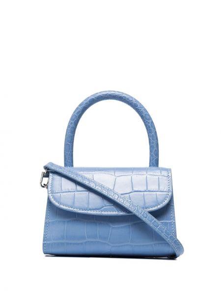 Синяя маленькая сумка из натуральной кожи By Far