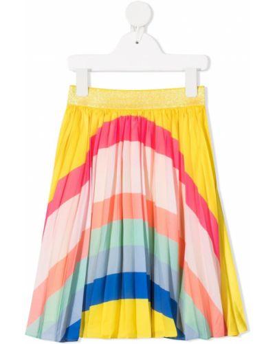 Żółta spódnica ołówkowa z wiskozy z printem Billieblush