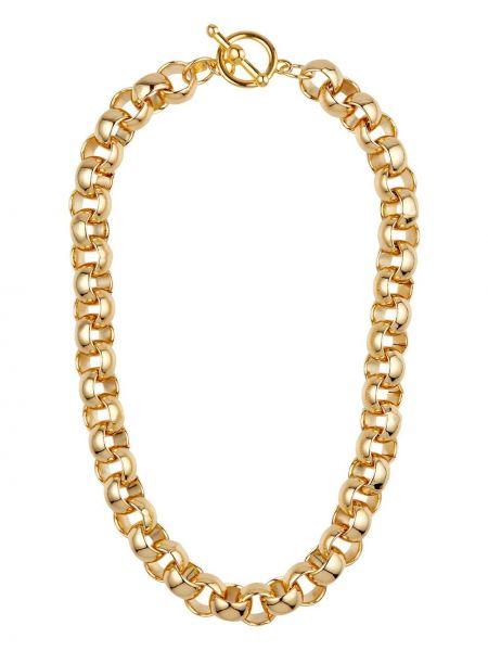 Золотистое ожерелье золотое круглое Kenneth Jay Lane