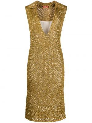 Шелковое платье - желтое Missoni