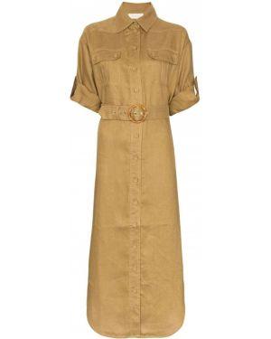 Платье миди на пуговицах сафари Zimmermann