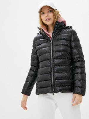 Черная куртка утепленная Geox