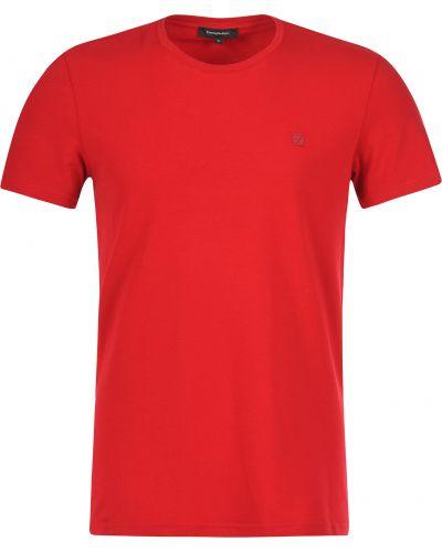 Красная футболка хлопковая Ermenegildo Zegna