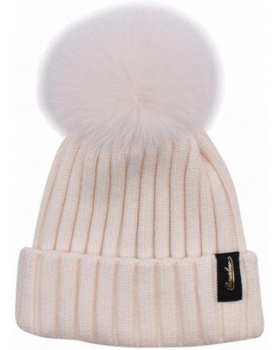 Biała czapka Borsalino