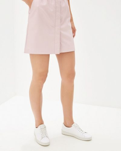 Кожаная юбка розовая French Connection