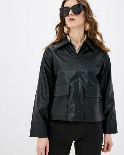 Черная кожаная куртка Ichi
