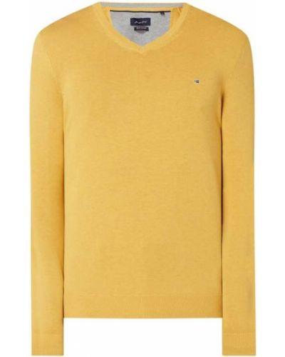 Sweter z dekoltem w serek - żółty Christian Berg Men