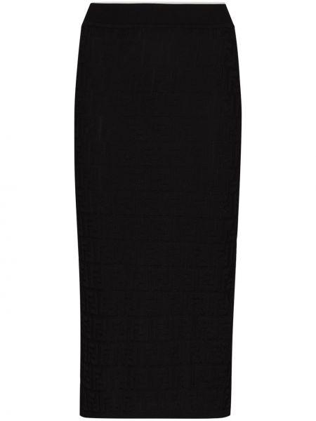 Bawełna czarny tutu spódnica na wysokości Fendi