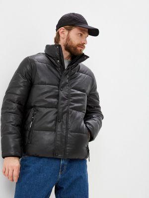 Кожаная куртка - черная Calvin Klein