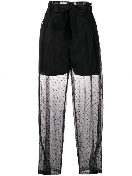 Хлопковые черные брюки свободного кроя Redvalentino