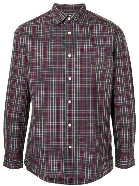 Czerwona koszula bawełniana zapinane na guziki Kent & Curwen