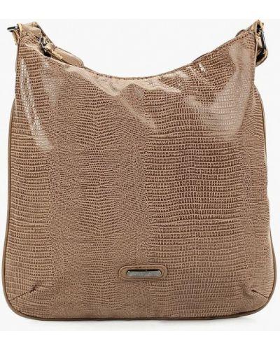 Кожаная сумка через плечо бежевый Carpisa