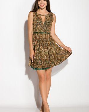 Платье свободного кроя - зеленое Time Of Style