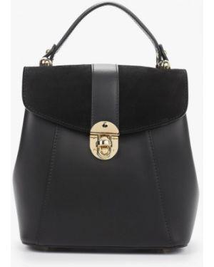 Рюкзак замшевый черный Giulia Monti