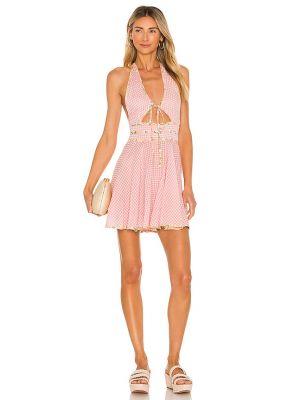 Różowa sukienka z haftem Tularosa