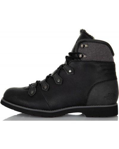 Кожаные сапоги на шнуровке замшевые The North Face