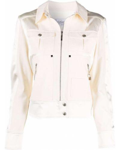 Biała klasyczna kurtka Christian Dior