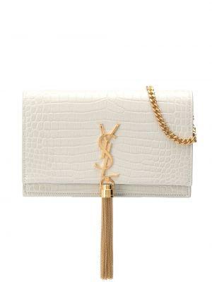 Beżowy złoty torebka crossbody Saint Laurent