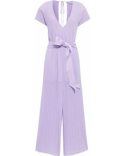 Текстильный фиолетовый комбинезон с подкладкой Alice + Olivia