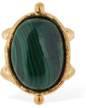 Zielony złoty pierścionek Sylvia Toledano