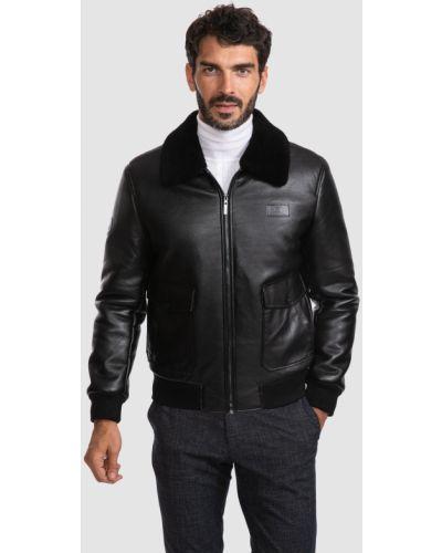 Кожаная куртка с мехом Kanzler