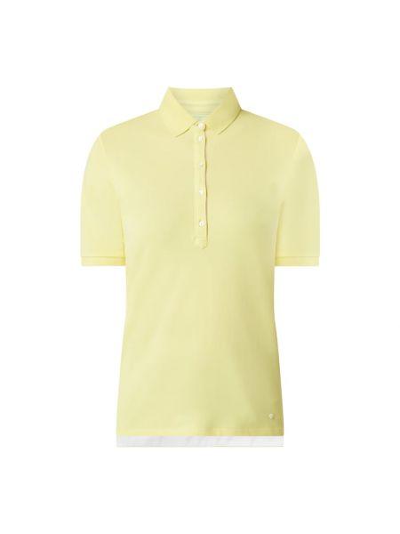 Żółty t-shirt bawełniany Brax