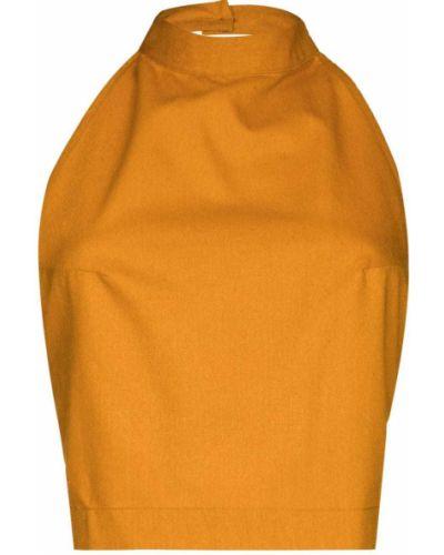 Pomarańczowa koszulka z jedwabiu Baserange